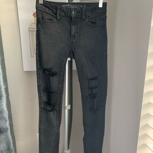 AEO distressed skinny jeans